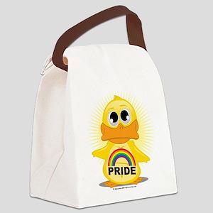 Rainbow-Duck Canvas Lunch Bag