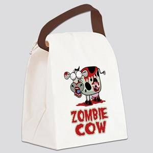 Zombie-Cow Canvas Lunch Bag