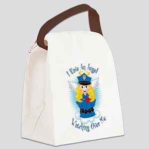 Angel-Watching-Over-Me-Police Canvas Lunch Bag