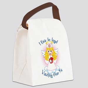 Angel-Watching-Over-Me-Nurse Canvas Lunch Bag