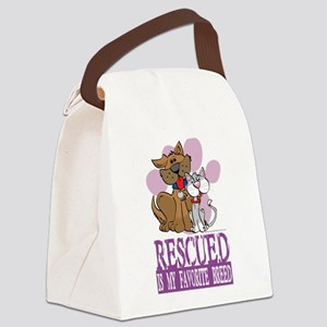 Rescued-Is-My-Favorite-Breed Canvas Lunch Bag