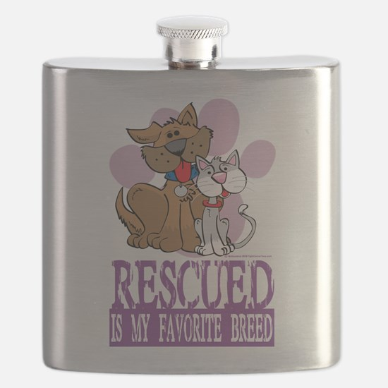 Rescued-Is-My-Favorite-Breed.png Flask
