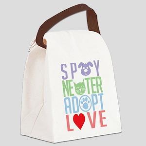 Spay-Neuter-Adopt-Love-2010 Canvas Lunch Bag