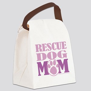 Rescue-Dog-Mom Canvas Lunch Bag