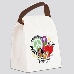 Stop-Animal-Abuse-PLP Canvas Lunch Bag