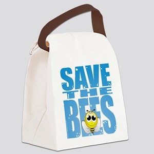Save-the-Bees Canvas Lunch Bag