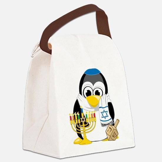 Hanukkah-Penguin-Scarf.png Canvas Lunch Bag