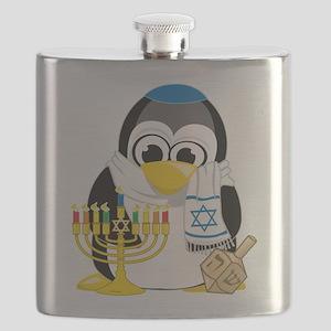 Hanukkah-Penguin-Scarf Flask