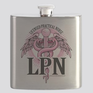 LPN-PINK-Caduceus Flask