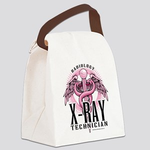X-Ray-Tech-Pink-Caduceus Canvas Lunch Bag