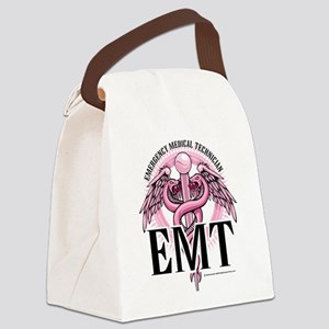 EMT-Pink-Caduceus Canvas Lunch Bag