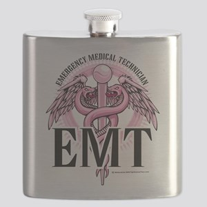 EMT-Pink-Caduceus Flask