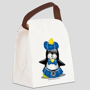 Scottish-Penguin-Blue-2009 Canvas Lunch Bag