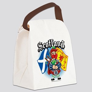 Scotland-Flags-and-Piper Canvas Lunch Bag