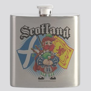 Scotland-Flags-and-Piper Flask