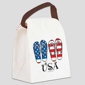 USA-Flip-Flops Canvas Lunch Bag
