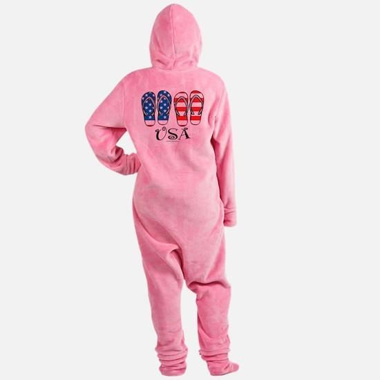 USA-Flip-Flops.png Footed Pajamas