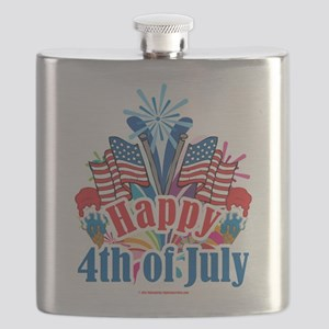 Happy-4th-of-July Flask