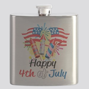 Happy-4th-Fireworks Flask