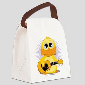 Guitar-Duck Canvas Lunch Bag