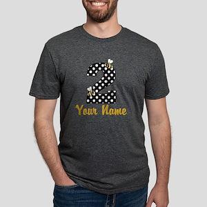 2nd Birthday Bumble Bee Mens Tri-blend T-Shirt