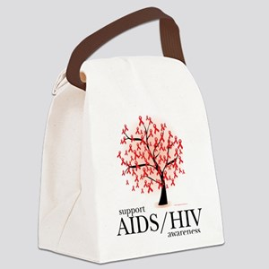 AIDSHIV-Tree Canvas Lunch Bag