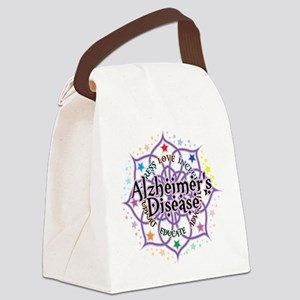 Alzheimers-Lotus Canvas Lunch Bag
