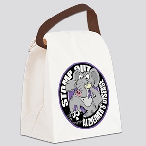 Stomp-Out-Alzheimers-Circle Canvas Lunch Bag