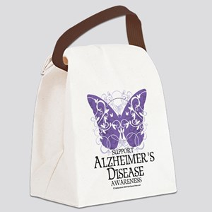 Alzheimers-Butterfly Canvas Lunch Bag