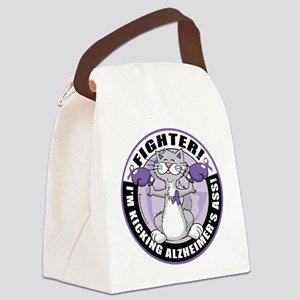 Alzheimers-Cat-Fighter Canvas Lunch Bag
