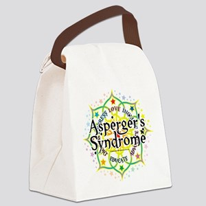 Aspergers-Syndrome-Lotus Canvas Lunch Bag