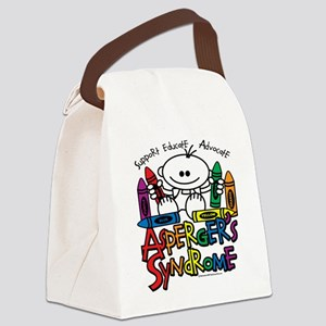 Aspergers-Syndrome-Crayons Canvas Lunch Bag