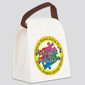 Asperger-Syndrome-Puzzle-Pin Canvas Lunch Bag