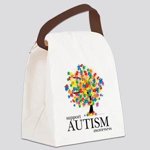 Autism-Tree Canvas Lunch Bag