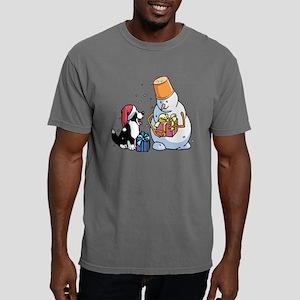 pup  Snowman sq bw Mens Comfort Colors Shirt