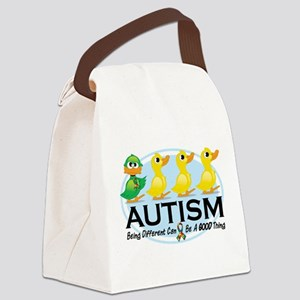 Autism-ugly-duckling-white Canvas Lunch Bag