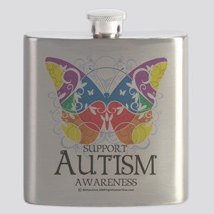 Autism-Butterfly Flask