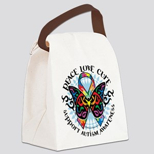 Autism-Butterfly-Tribal-2 Canvas Lunch Bag