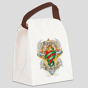 Bipolar-Disorder-Cross--Heart Canvas Lunch Bag