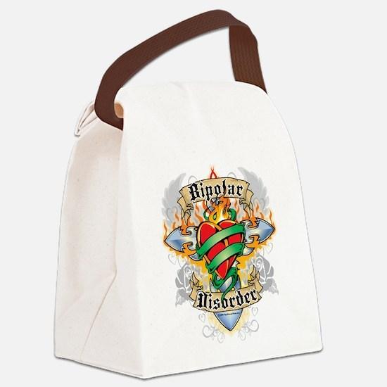 Bipolar-Disorder-Cross--Heart.png Canvas Lunch Bag