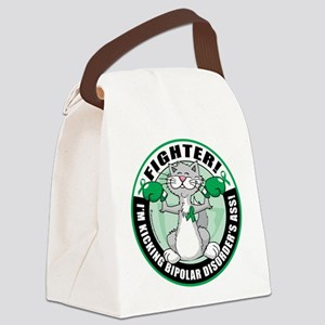 Bipolar-Disorder-Cat-Fighter Canvas Lunch Bag