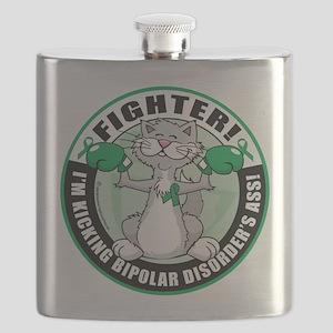 Bipolar-Disorder-Cat-Fighter Flask