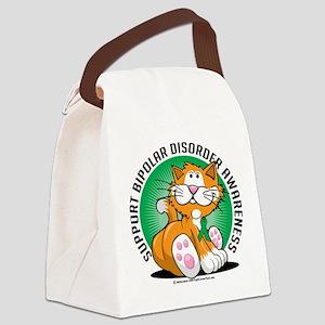 Bipolar-Disorder-Cat Canvas Lunch Bag