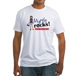 Myrtle Rocks Fitted T-Shirt