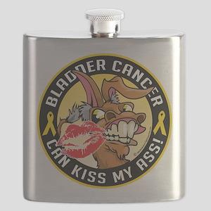 Bladder-Cancer-Can-Kiss-My-Donkey Flask
