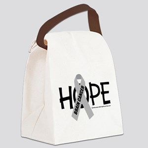 Brain-Cancer-Hope Canvas Lunch Bag