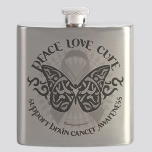 Brain-Cancer-Butterfly-Tribal Flask