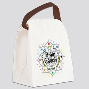 Brain-Cancer-Lotus Canvas Lunch Bag