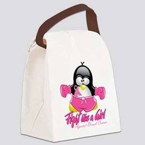 BC-Fighting-Penguin Canvas Lunch Bag