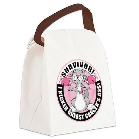 BC Survivor: Boxing Cat Canvas Lunch Bag
